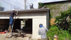 岡山県備前市 K様邸蔵・スレート鉄骨造駐車場解体工事