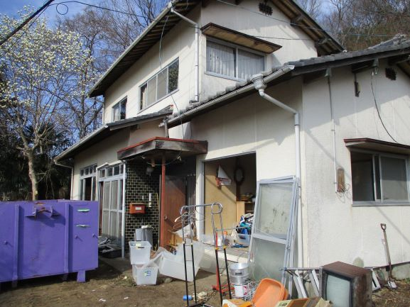 岡山県赤磐市 木造二階建家屋解体工事