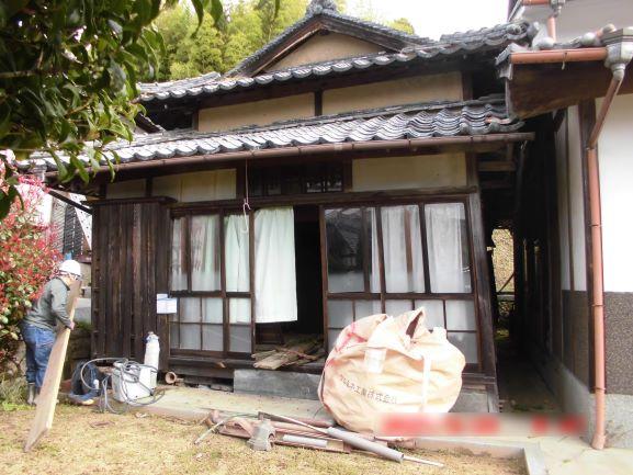 岡山県和気町 木造二階建納屋解体工事