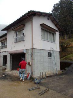 岡山県和気町 二階建て家屋解体工事